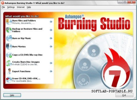 Ashampoo Burning Studio Portable 7.32 Rus
