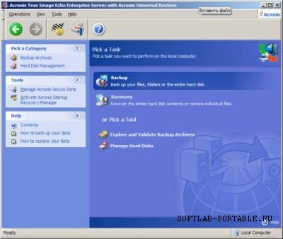 Acronis True Image Srv 9.70.82.6 Portable + UniRestore