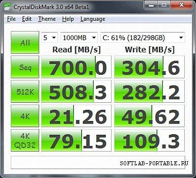 CrystalDiskMark 8.0 Portable