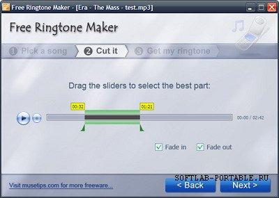 Musetips Free Ringtone Maker 2.5.0.2149 Portable